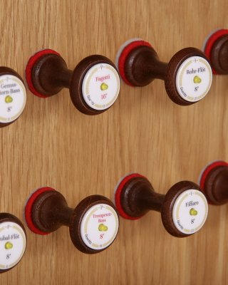 45 / 64 draw-knobs with LED signalization