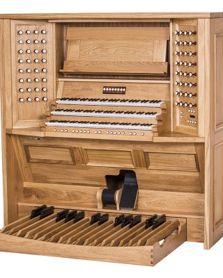 Console made of solid oak
